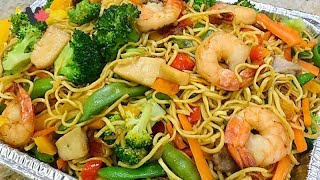 Seafood Egg Noodles Stir Fry - Mì Xào Thập Cẩm- Mì Xào Đồ Biển