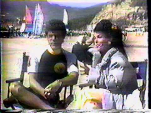 Annette Funicello on location Back To The Beach 1987