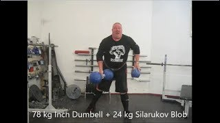 Arto Joronen. 78 kg Inch Dumbbell + 24 kg blob lift / Гантель Инча и блоб. Арто Йоронен.