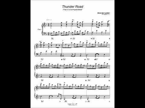 Thunder Road Bruce Springsteen Piano Accompaniment Youtube