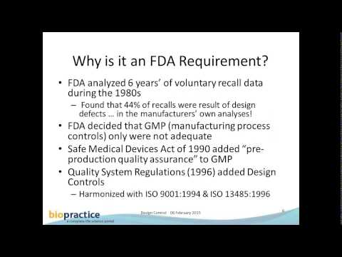 1527_FDA Medical Device Regulation Design Control