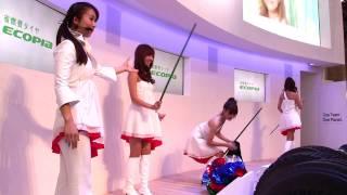 [1080p]2009東京モーターショー ブリヂストンshowスカートひらりコンパニオン thumbnail