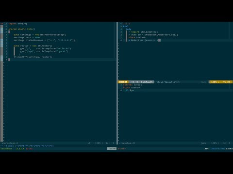 [dlang tutorial] 01-hello: build tools and hello web