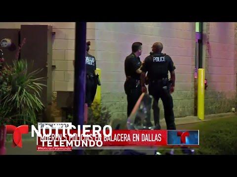 Un francotirador mató a 5 policías en Dallas, Texas | Noticiero | Noticias Telemundo