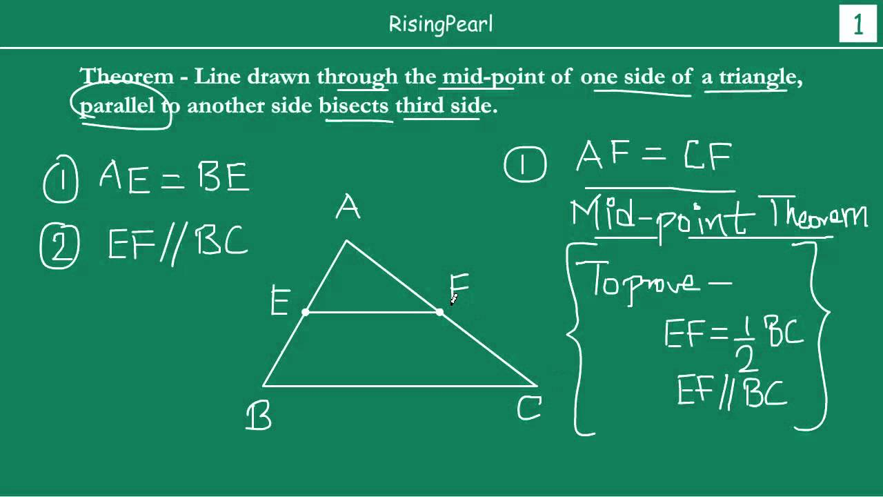 converse of mid-point theorem and proof
