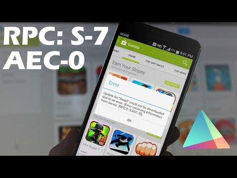 Ошибка при получении данных с сервера [RPC:S-7:AEC-0] в Google Play (Решение)