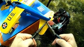 e flite umx pt 17 control arm rod adjustment demo tutorial