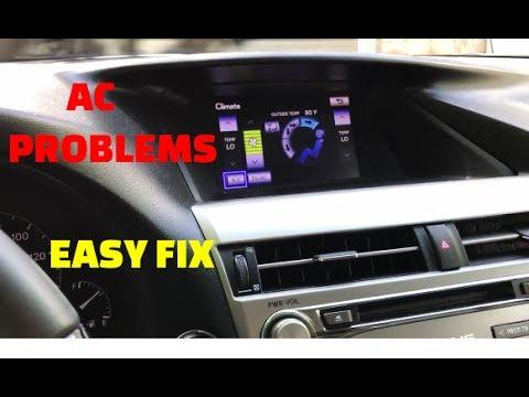 2010 -2015 Lexus Rx AC Problem ! Blowing Warm Air ! Toyota AC air  conditioning problems