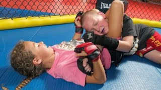 Cage-fighting Kids: Children As Young As Four Train In MMA(Cage-fighting Kids: Children As Young As Four Train In MMA Subscribe: http://bit.ly/Oc61Hj Sporty sisters Maria and Valery Bystritskii may look innocent - but ..., 2015-09-07T23:00:01.000Z)