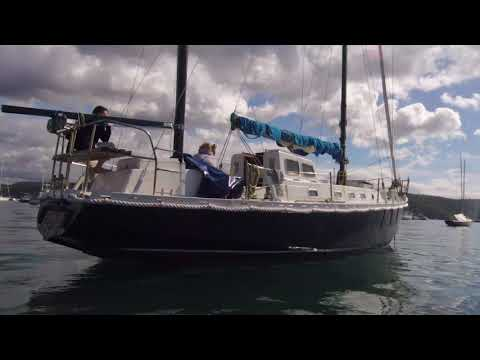 rgo, a timber sailing boat  traveled all the way from europe to Sydney and now she is for sale.