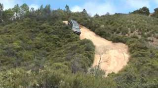 Nissan Xterra Near Roll Over Reverse Angle - Cow Mountain Ukiah, CA