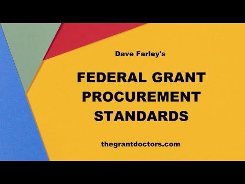 Federal Grant Procurement (Purchasing) Standards