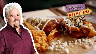 Guy Fieri Eats Pork Tamales | Diners, Drive-Ins and Dives | Food Network