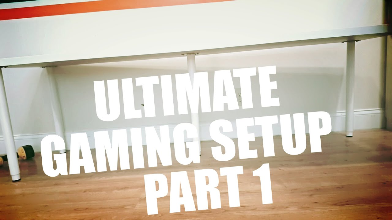 Ultimate gaming setup part 1 ikea linnmon desk youtube for Ikea gaming table