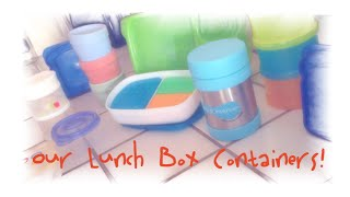 Our Lunch Box Containers!