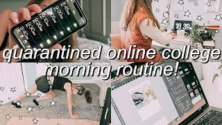 my online school morning routine (in quarantine) *PRODUCTIVE*