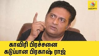 Prakash Raj walks out of TV interview after reporter raises Cauvery issue | Tamil Cinema News
