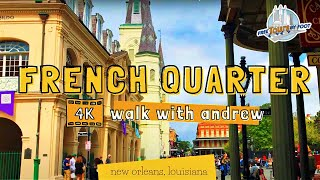 4K Walking Tour through New Orleans' French Quarter (Narrated)