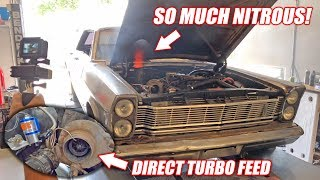 Dyno Testing Our Homemade Nitrous System! AMAZING POWER Gains For the Galaxie!