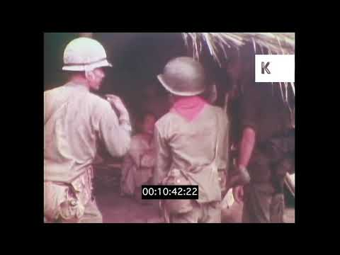 1960s, 1970s Vietnam War, US Marines Searching Village For Viet Cong