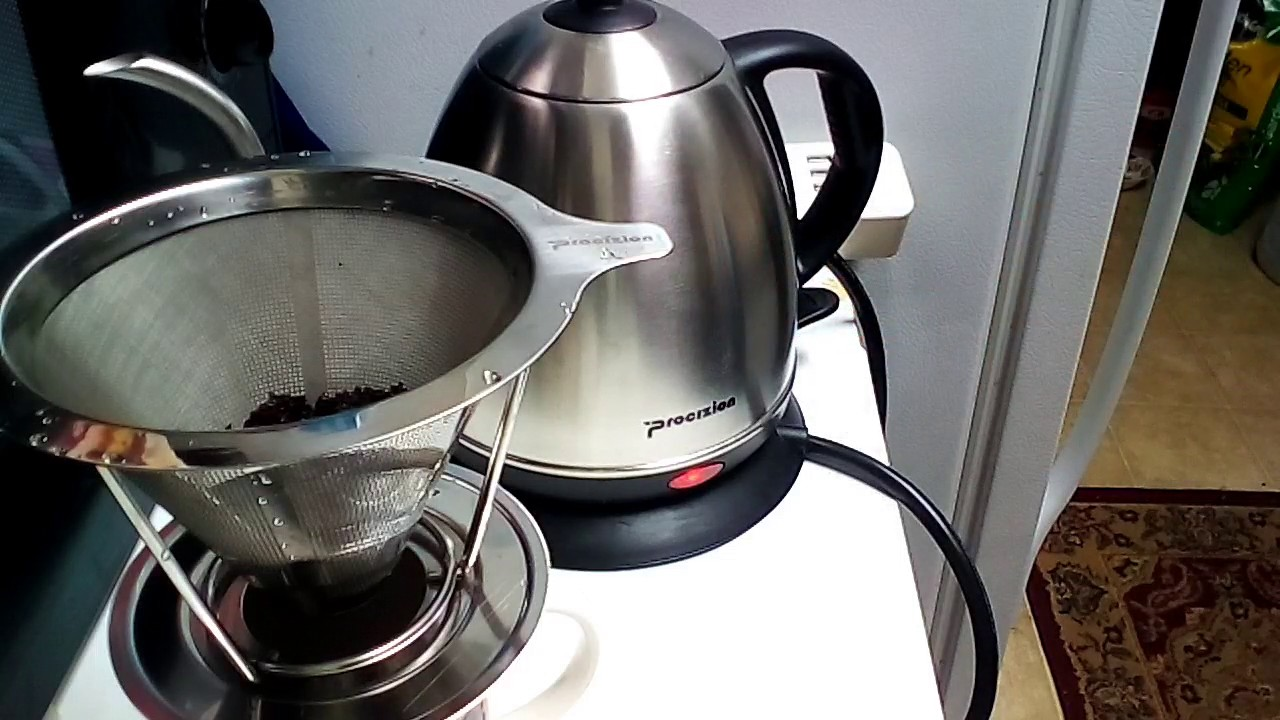 procizion 1 liter electric gooseneck kettle 1l34oz with stainless steel pour over coffee filter