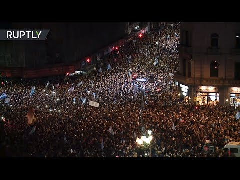 Thousands demand ex-president of Argentina be stripped of immunity amid corruption scandal
