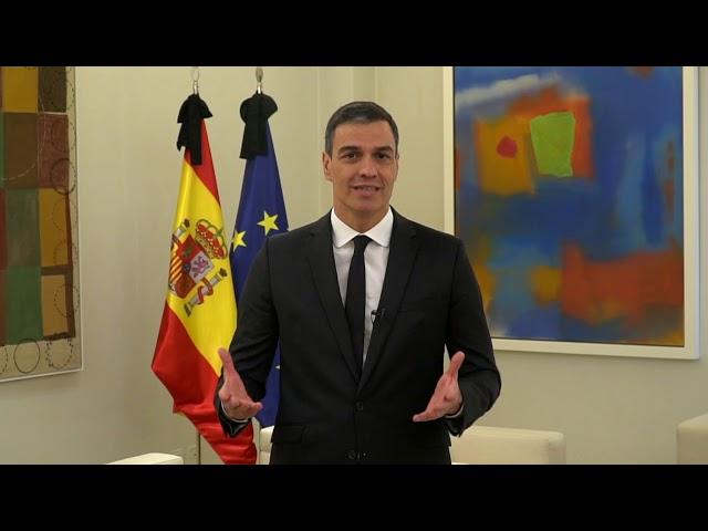 Sanchez pide respuestas solidarias y plurales frente a la pandemia COVID19
