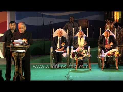 Shri Gaikhangam, Deputy CM of Manipur welcomes delegates of Sangai Festival'13
