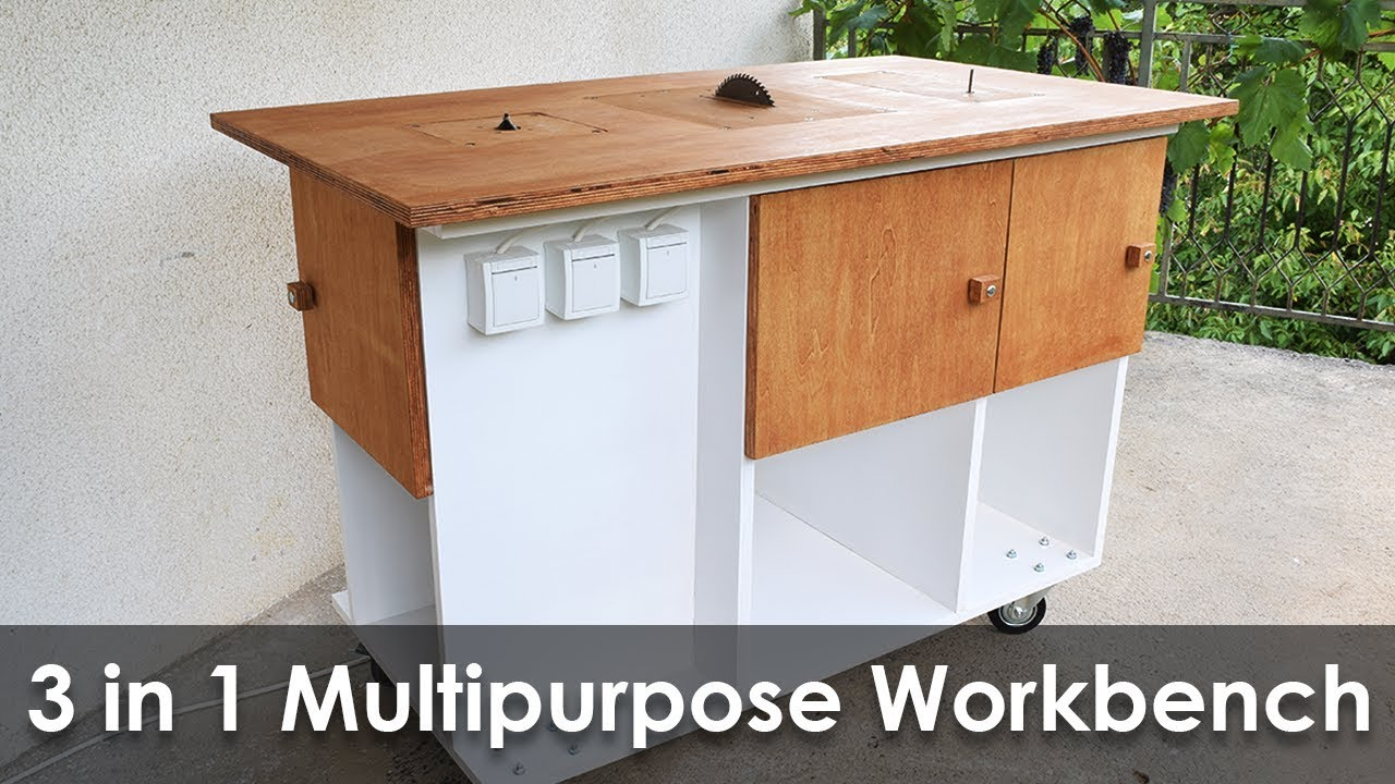 Homemade 3 In 1 Multipurpose Workbench Table Saw Router Table And