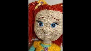 Вязаная  кукла крючком.