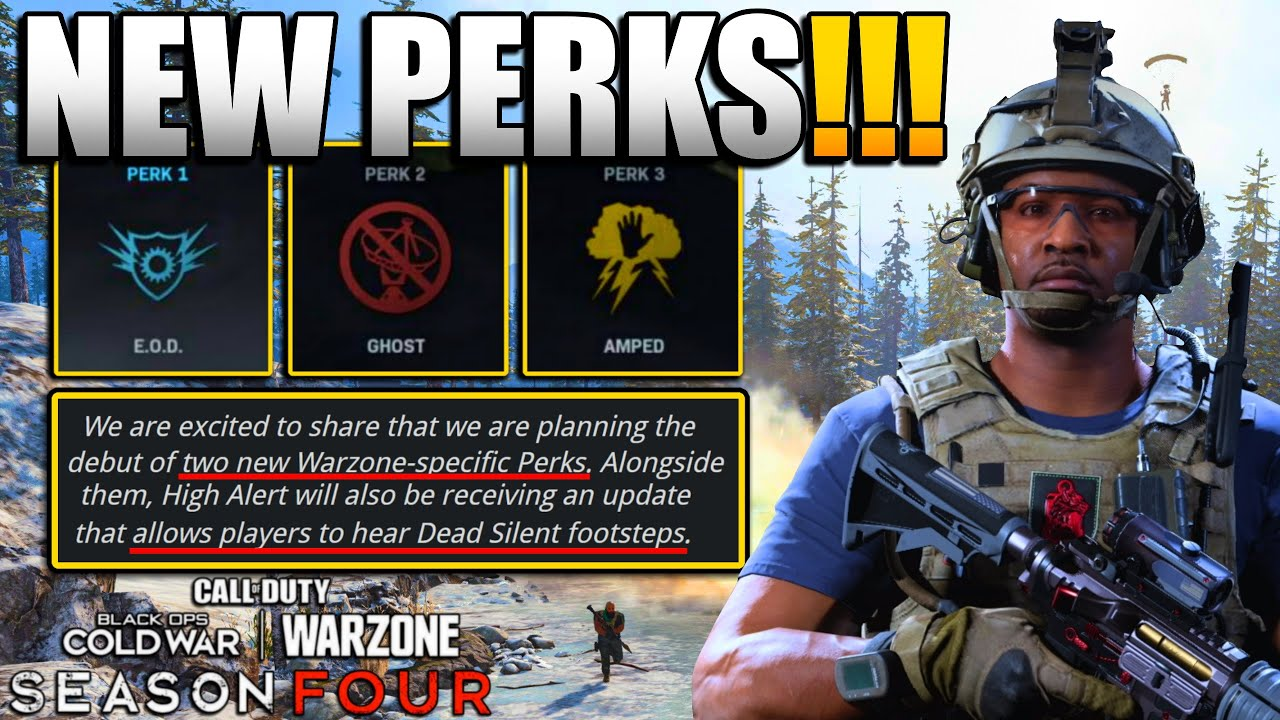 New Perks Coming and Potential Overhaul to Perk System in Warzone | Update to Counter Dead Silence