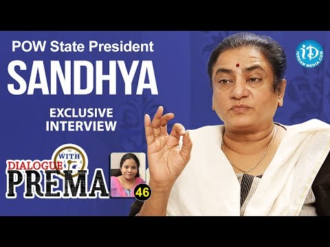POW State President Sandhya Exclusive Interview | Dialogue With Prema | Celebration Of Life 46