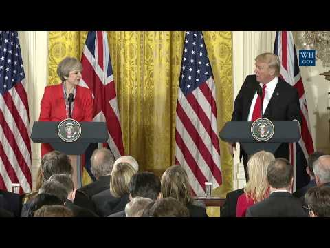 President Trump and PM May Joint Press Conference Washington, D.C..