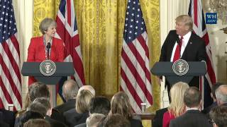 News !  President Trump and PM May Joint Press Conference