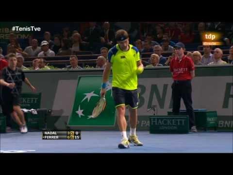 David Ferrer vs. Rafa Nadal 6-3, 7-5 semifinal París Bercy