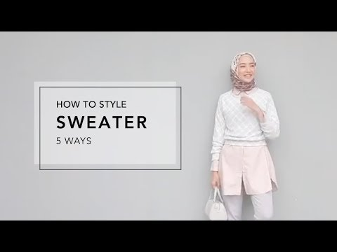 How to Style Sweater 5 Ways - YouTube