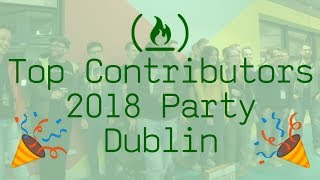 Top Contributors 2018 Party in Dublin for freeCodeCamp.org thumbnail