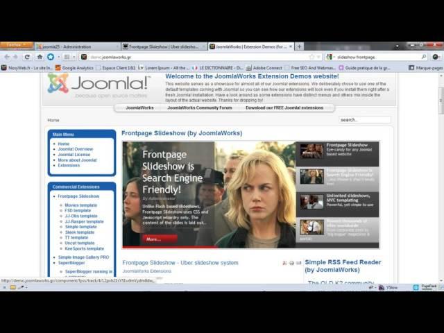Installation et configuration du frontpage slideshow