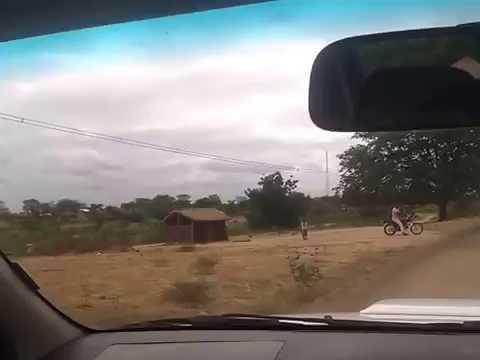 Driving on EN-258, Tete, Mozambique.