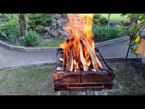 Как сложить костер из дров