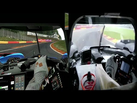 Project CARS 2 LMP2 vs Reality onboard at Spa