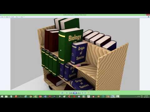 Blender: Modeling Books and Book Cart