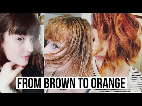 Dying My Hair From Brown To Ginger Without Bleach Youtube
