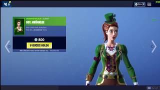 Fortnite ItemShop 17.03.2019 NEW Glücksraser Skin | Sgt. Green Clover | Gold Pot Axe| Lucky Coins