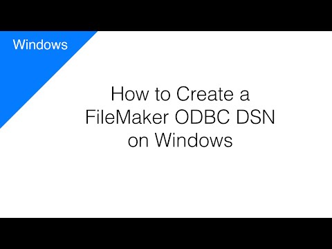 How to Create an ODBC DSN for a FileMaker Database [Windows]