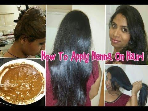 How to apply henna on hair