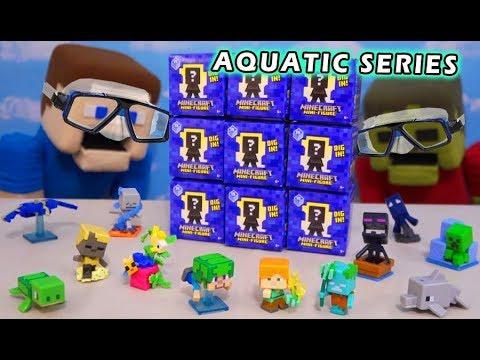 Snorkling with Minecraft Aquatic Series 15  Blind Box Mini Figures
