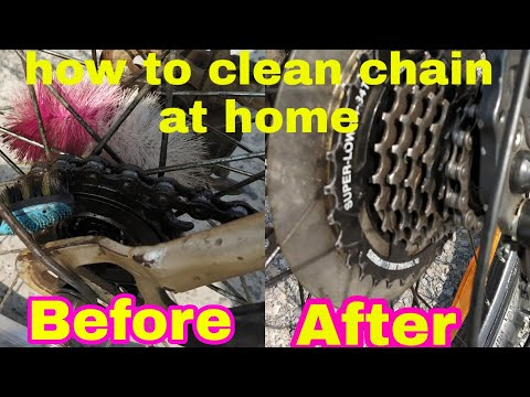 How To Clean Your Cycle Chain Or Bike Chain At Home In 10 Rupees || HJV Vlogs