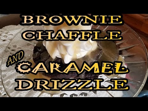 keto-chocolate-brownie-chaffle-with-caramel-drizzle-sizzling!!!-not-eggy!-delish!