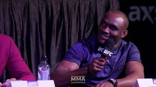 Tyron Woodley, Kamaru Usman Have Heated, Lengthy Exchange at UFC 235 Press Conference